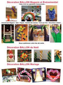 decoration-ballon-magasin et particuliers