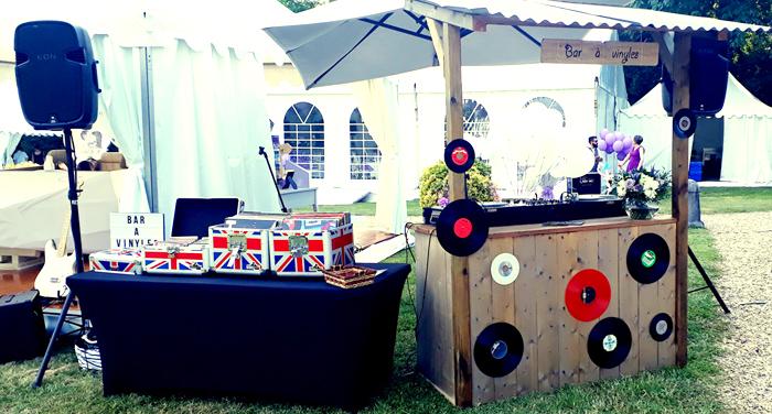 DJ bar à vinyles